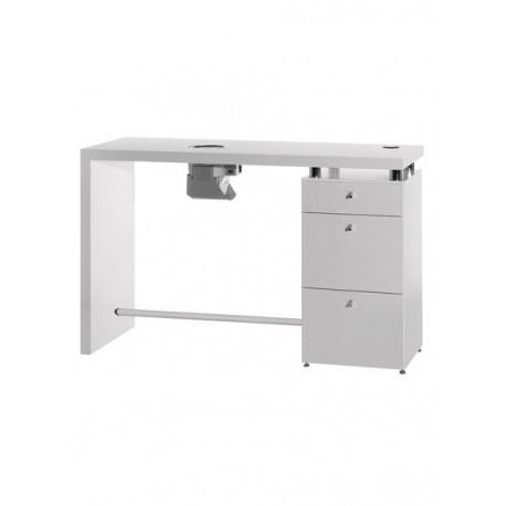 Logic Mesa amplia para manicura en laminado blanco