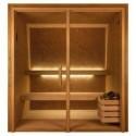 Sauna Luxe Corcho/Cedro Standar 130x130 cm