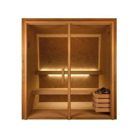 Sauna Luxe Corcho/Cedro 190x250