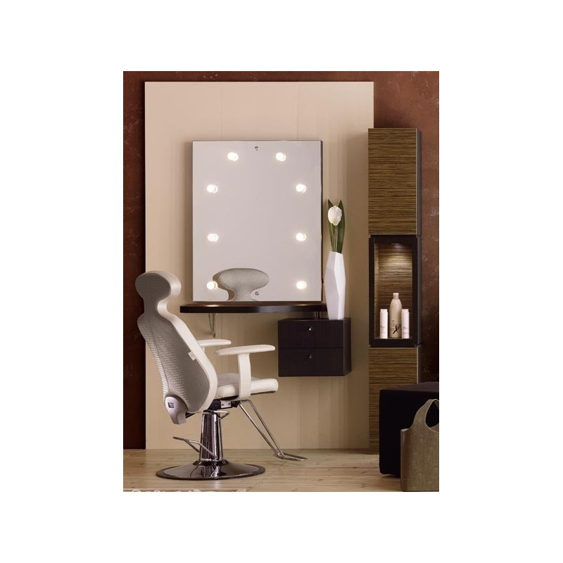 Muebles auxiliares > Tocador maquillaje priscilla retroiluminado
